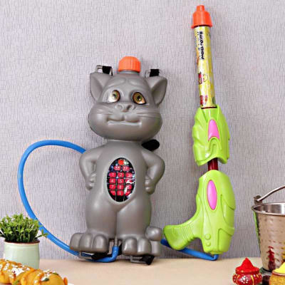 Grey Cat Water Gun Pichkari With Tanker