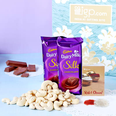 Hamper of Dairy Milk Silk with Dry Fruits