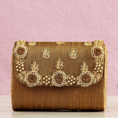 Hand Clutch With Bead Work