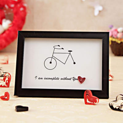 Hand Crafted Frame With Sweet Love Message Giftsend Valentines