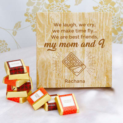 Handmade Chocolates in Personalized Box for Mom