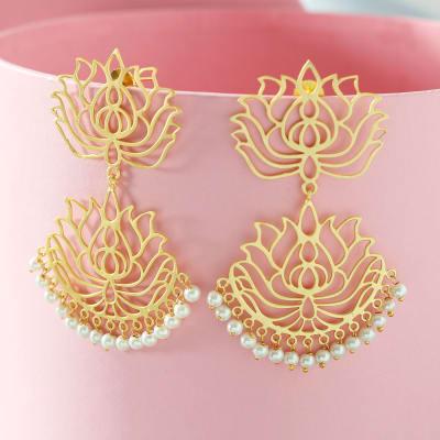Handmade Chromium Plated Designer Earrings