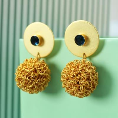 Handmade Gold Filigree Work Earrings
