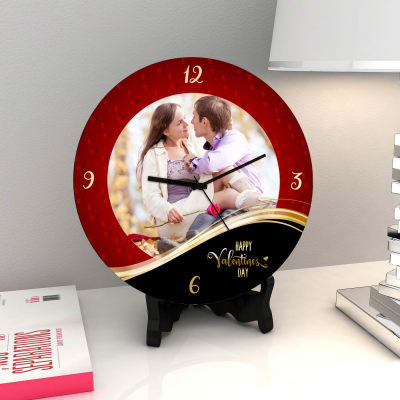 Happily Ever After Personalized Valentine Clock