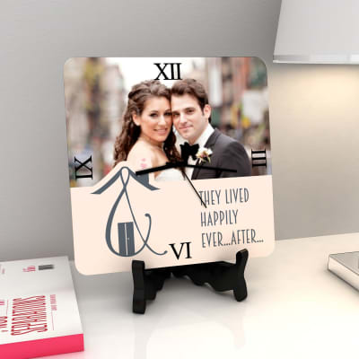 Happily Ever After Personalized Wedding Clock