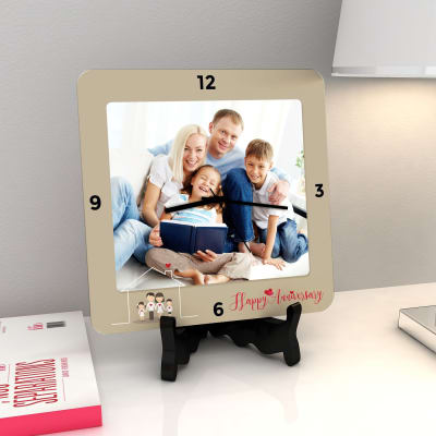 Happy Anniversary Personalized Clock