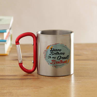 Happy Birthday Brother Steel Mug Gift Send Home And Living Gifts OnlineJ11028629
