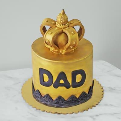 Happy Birthday Dad Fondant Cake (5 Kg)