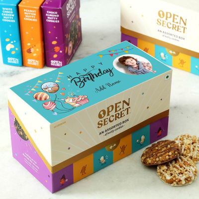 Happy Birthday Personalized Gourmet Assorted Cookie Box