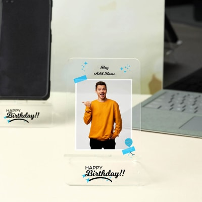 Happy Birthday Personalized Mobile Stand