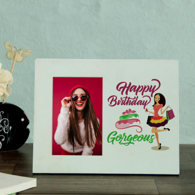 Happy Birthday Personalized Photo Frame for Girls
