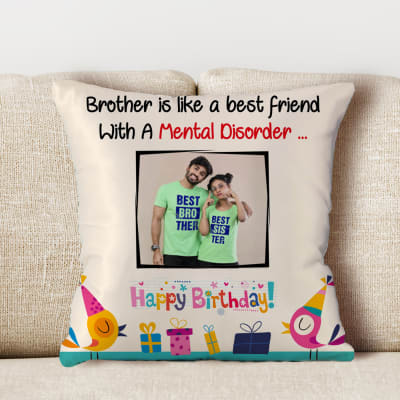 Happy Birthday Personalized Satin Pillow For Brother Gift Send Home And Living Gifts Online J11114563 Igp Com