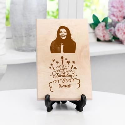 Happy Birthday Personalized Wooden Photo Frame
