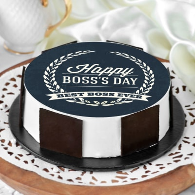 Happy Boss's Day Classic Poster Cake (Half Kg)