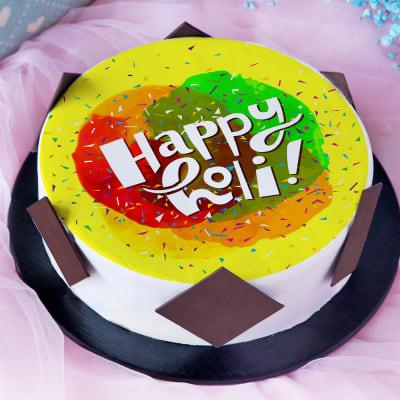 Happy Holi Celebration Poster Cake (Half Kg)