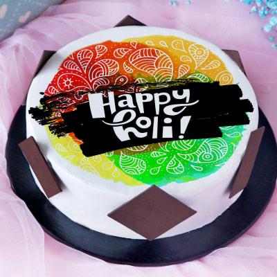 Happy Holi Poster Cake (Half Kg)