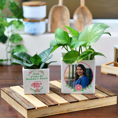 Happy Mother's Day Personalized Planters (Set of 2)