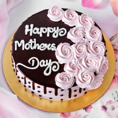 Happy Mother's Day Yummy Chocolate Cake (Half Kg)