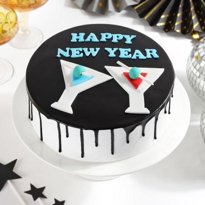 Happy New Year Chocolate Cake (1 Kg)