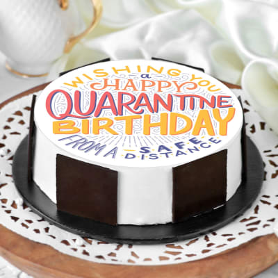 Happy Quarantine Birthday Cake (Eggless) (1 Kg)
