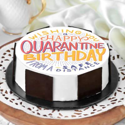 Happy Quarantine Birthday Cake (Half Kg)