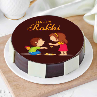 Happy Rakhi Brother Sister Cake (Eggless) (Half Kg)