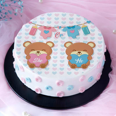 He or She Baby Shower Poster Cake (1 Kg)