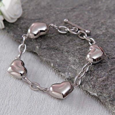 Heart Designed Chain Bracelet