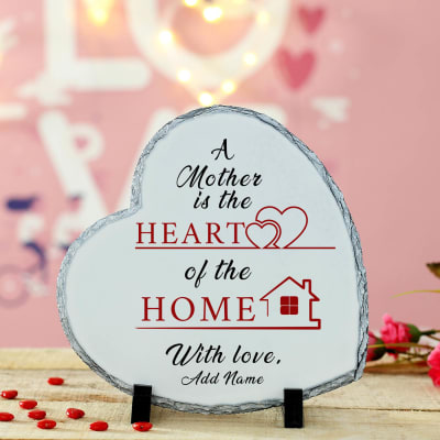 Heart of the Home Personalized Tile with Stand