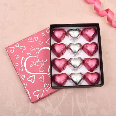 Heart Shape Dark and Milk Chocolates in Romantic Gift Box