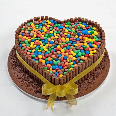 Heart Shape Fondant Cake with Gems (5 Kg)