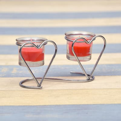 Heart Shaped Candles Stand