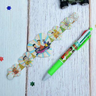 Heart Shaped Kids Rakhi with Disney Character Pen