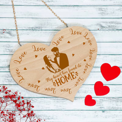Heart Shaped Personalized Wooden Wall Hanging