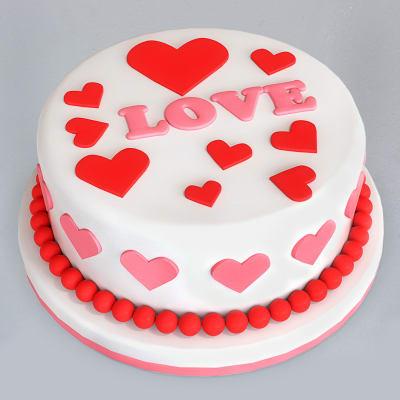 Hearts Fondant Cake (4 Kg)