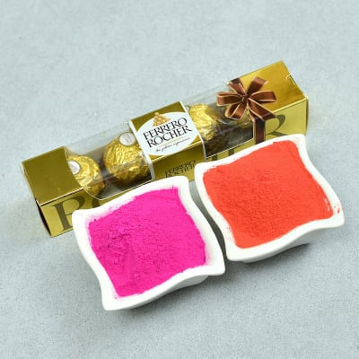 Herbal Colors with 4 Pcs Rocher