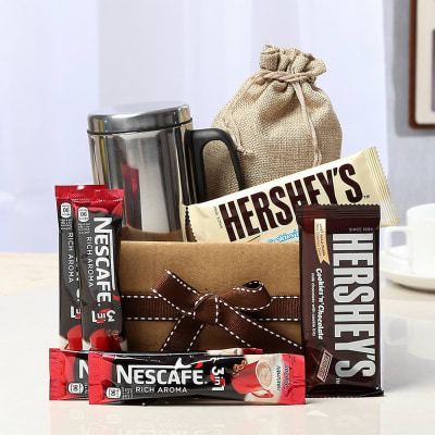 Hersheys Chocolates With Nescafe Sachets Steel Mug