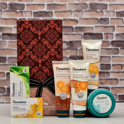 Himalaya Tan Removal Skin Care Set with Bathing Soaps and Skin Creme in  Gift Box