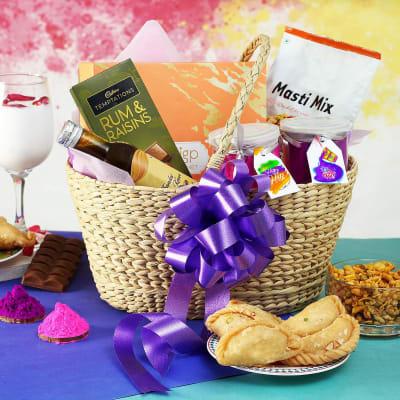 Holi Gift Hamper in Basket