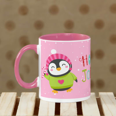 Holly Jolly Pink Christmas Mug