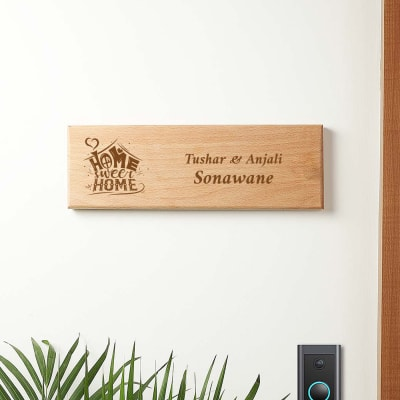 Home Sweet Home Personalized Name Plate