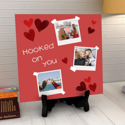Hooked on You Personalized Photo Tile