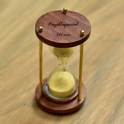 Hourglass Sand Timer for Sibling