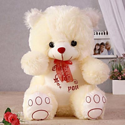 Huggable Cream Teddy Bear
