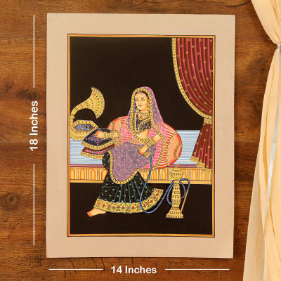 Husn-e-Malika Embossed Cardboard Painting