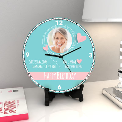 I am Grateful for you Personalized Birthday Clock