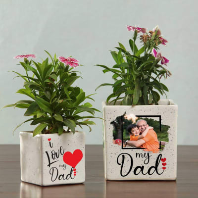 I Love My Dad Personalized Planter (Without Plant) - Set of 2