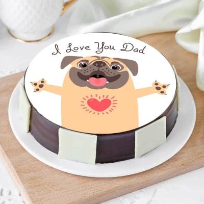 I Love You Dad Cake (Half Kg)