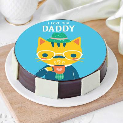 I Love You Daddy Cake (Half Kg)
