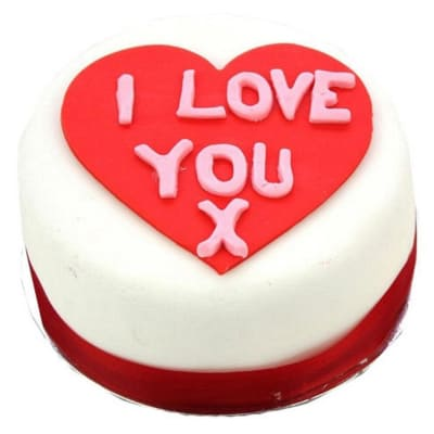 I Love You Heart Cake 10 inches